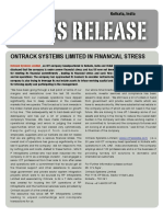 Ontrack Systems Limited in Financial Stress [Company Update]