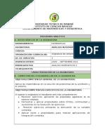 Programa Analitico IV