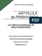 Antya-lila de Prabhupada