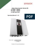 BA Photovoltaik Wechselrichter ES5000K3 VDE4105 V4 0 GB