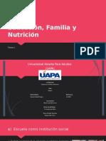 Educacion, Familia y Nutricion Tarea II