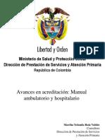 Generalidades Del Manual de Acreditación Ambulatorio y Hospitalario