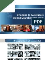 Skilled Migration Program Changes 2012