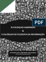 Anais Xi Coloquio Habermas e II Coloquio de Filosofia Da Informacao
