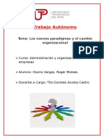 307688086 Los Nuevos Paradigmas y El Cambio Organizacional