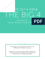 Get Job In Big 4 (Google,Amezon,Facebook,Microsoft)