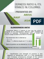 Slenderness Ratio