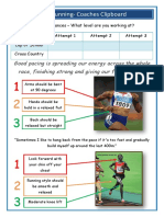 pace running task card