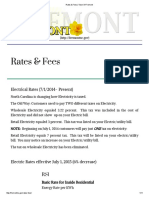Town of Fremont - Electric Rates
