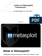 3 Introduction to Metasploit Framework