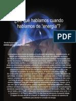 Hablando de Energia