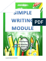 Simple Writing Module 1