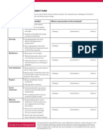 Effective Worker Assessment Sheet