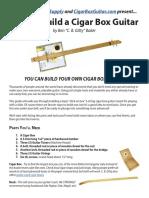 How to Build a Basic Cigar Box Guitar