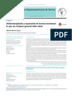 Abdominoplastia y Reparación de Hernia Incisional Lo Que Un Cirujano General Deberia Saber
