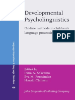 Developmental Psycholinguistics on-line Methods in Children's Language Processing (Language Acquisition and Language Disorders) 44th Edition {PRG}