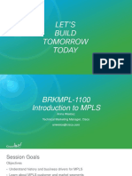 Introduction to MPLS - BRKMPL-1100