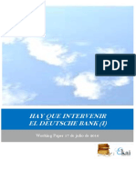 HAY QUE INTERVENIR EL DEUTSCHE BANK (I)