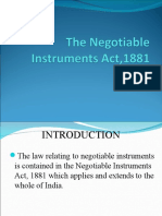 The Negotiable Instrument Act, 1881