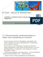 Chapter 1 –Introduction to Sales Marketing