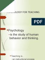Psychology of Teaching