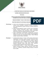 PMK No. 299 Ttg Penyelenggaraan Program Internsip Dan Penempatan Dokter Pasca Internsip