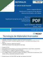 Presentacion Curso Tecnología de Materiales Avanzados - 2014 II