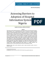 Assessing Barriers to Adoption of Hospital Management Information