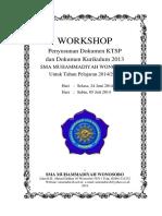 Workshop Penyusunan Dokumen KTSP Dan Dok