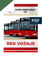Red Voznje Za Gradjane 19.05.2016.