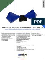 Antenas de Medicion EMC Linea BicoLOG