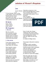 English Translation of Mozart's Requiem