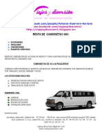 Renta de Camionetas Vans