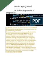 Es Fácil Aprender a Programar
