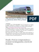 Informacion de Lazos Con BRASIL Y PERU
