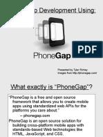 Phonegap by Tyler Richey