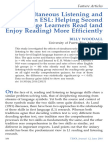 Simultaneous Listening and Reading In ESL
