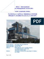 NTPC Dadri Appln Report IPMA