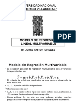 ECONOMETRIA - REGRESION MULTIVARIABLES