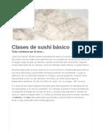 Sushi 1 2 Clases