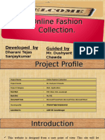 online fashion collection ppt