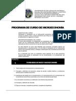 Programa Microeconomía