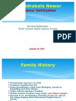 Chandrakala_Newar Presentation Jan 29 2016