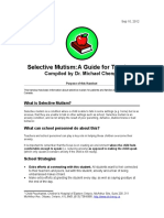 Selective Mutism-For School
