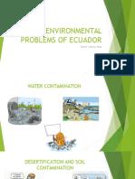 Major Environmental Problems of Ecuador
