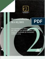 Recomendación AMAAC RA 02 2011 Susceptibilidad a La Deformación