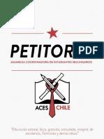 Petitorio Aces 2016