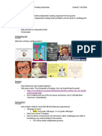 lesson plan- independent reading exploration