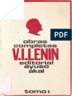 Obras completas de Lenin. Tomo I