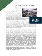La Huelga General de Noviembre de 1922